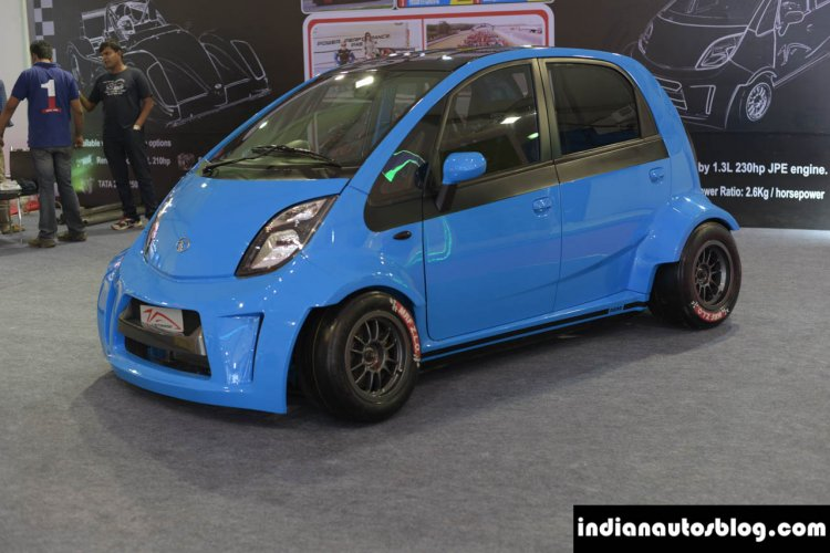 JA Motorsport Tata Super Nano front three quarter at 2014 APS