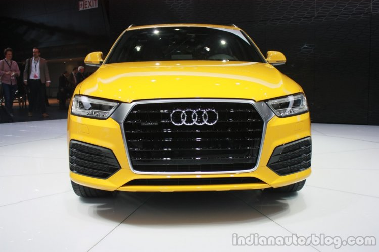 2015 Audi Q3 Facelift front at the 2015 Detroit Auto Show