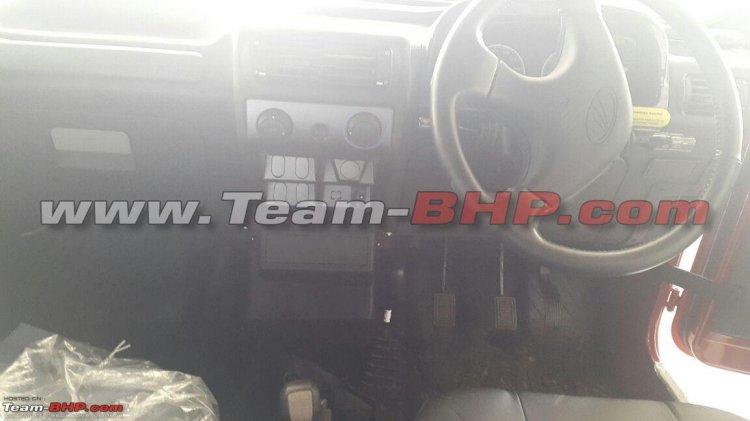 2015 Mahindra Thar spied interior