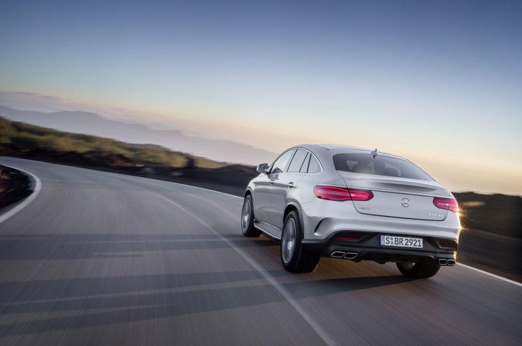 2015 Mercedes AMG GLE63 S Coupe rear three quarters