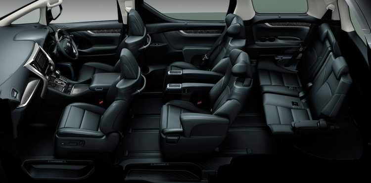 2015 Toyota Vellfire interior seating Japan
