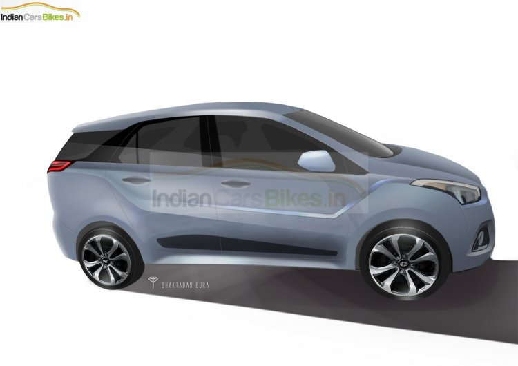 2016 Hyundai India MPV side rendering