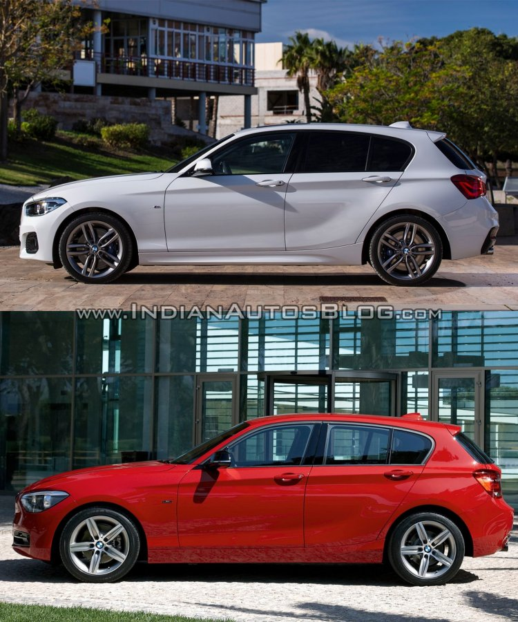 BMW 1 series facelift vs 1 series side old vs new