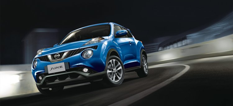 2015 Nissan Juke front three quarter motion