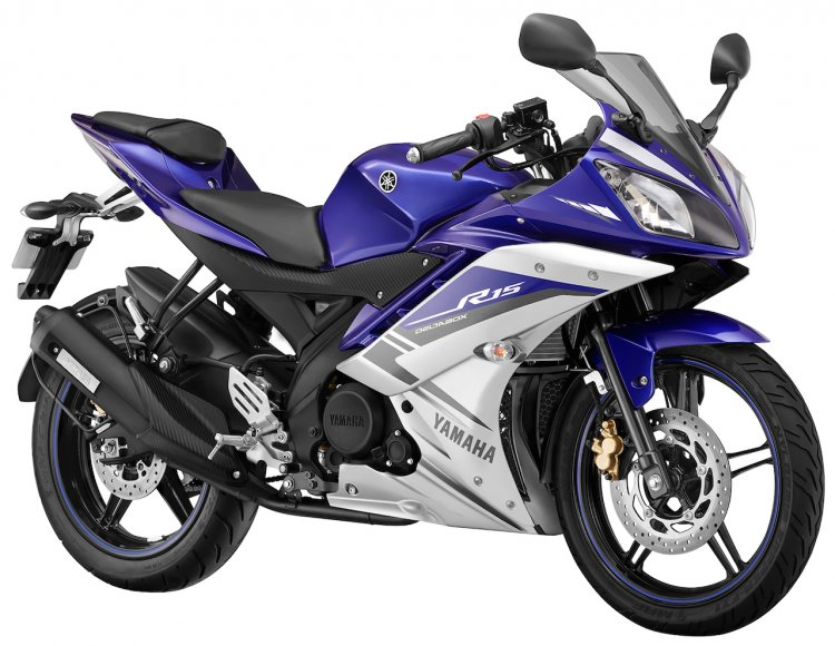 2015 Yamaha R15 GP Blue Right Front Three Quarters