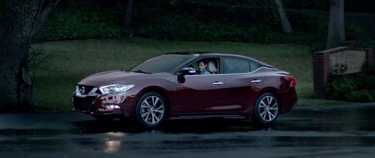 2016 Nissan Maxima front three quarters Super Bowl TV Commercial