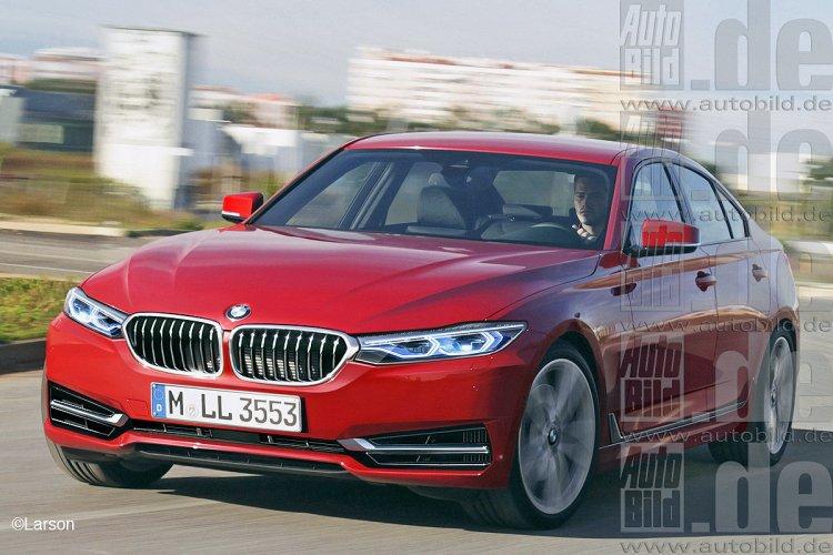 2018 BMW 3 Series rendering front three quarter