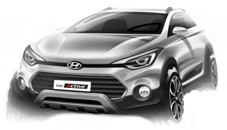 Hyundai i20 Active sketch