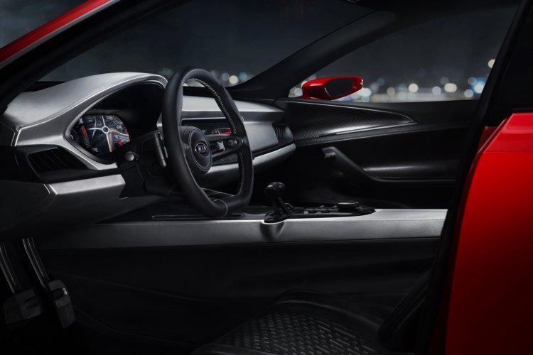 Kia Sportspace concept interior steering wheel
