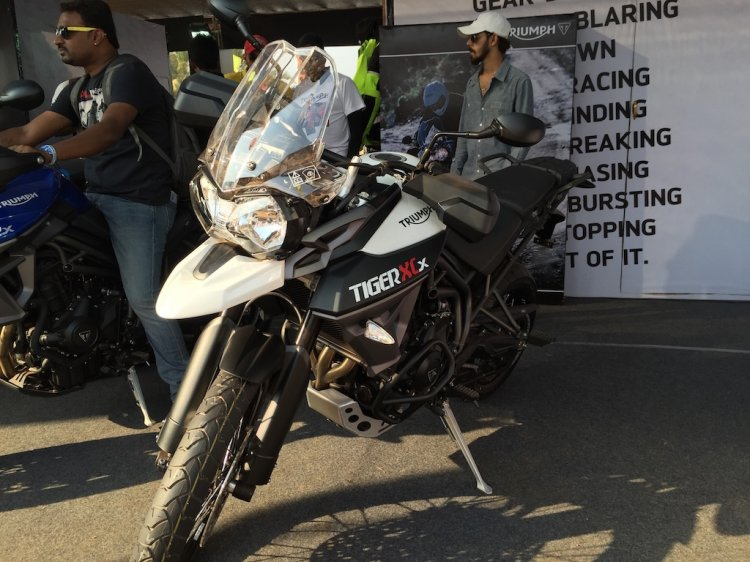 Triumph Tiger XCx At India Bike Week 2015 Front Left Three Quarters