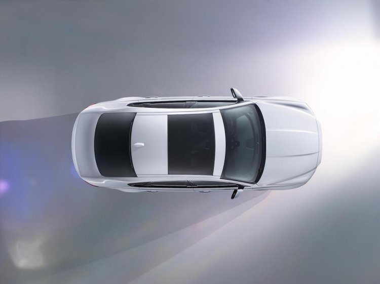 2016 Jaguar XF press shot top view