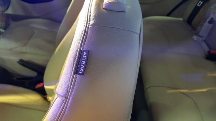 Ford Figo Aspire side airbag from the Indian premiere
