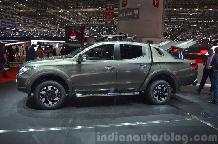 Mitsubishi L200 side profile at the 2015 Geneva Motor Show