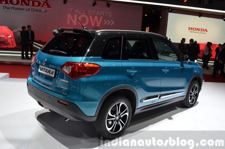 Suzuki Vitara rear quarter at the 2015 Geneva Motor Show