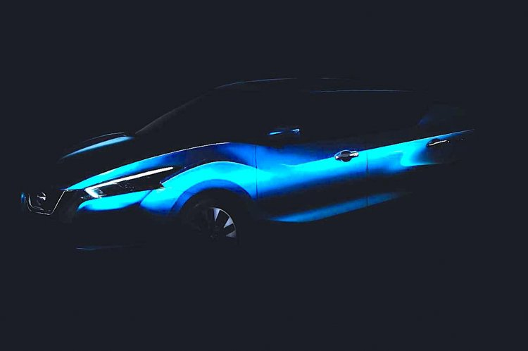 2016 Nissan Lannia teaser front three quarter