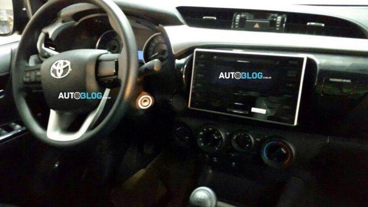 2016 Toyota Hilux interior leaked
