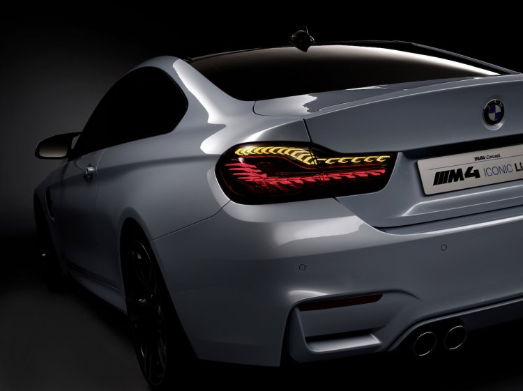 BMW M4 Iconic Lights Concept official image taillights