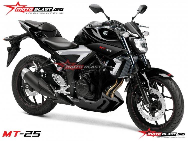 Yamaha MT 25 naked R25 rendering