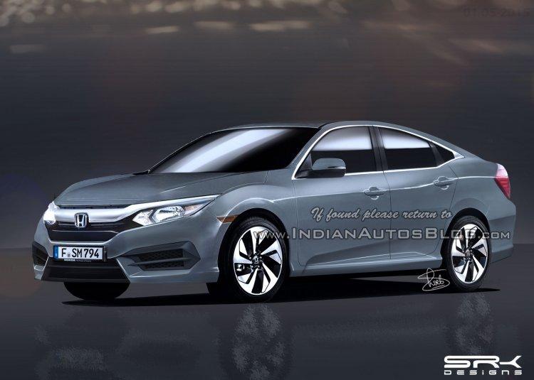 2016 Honda Civic sedan front three quarter IAB rendering