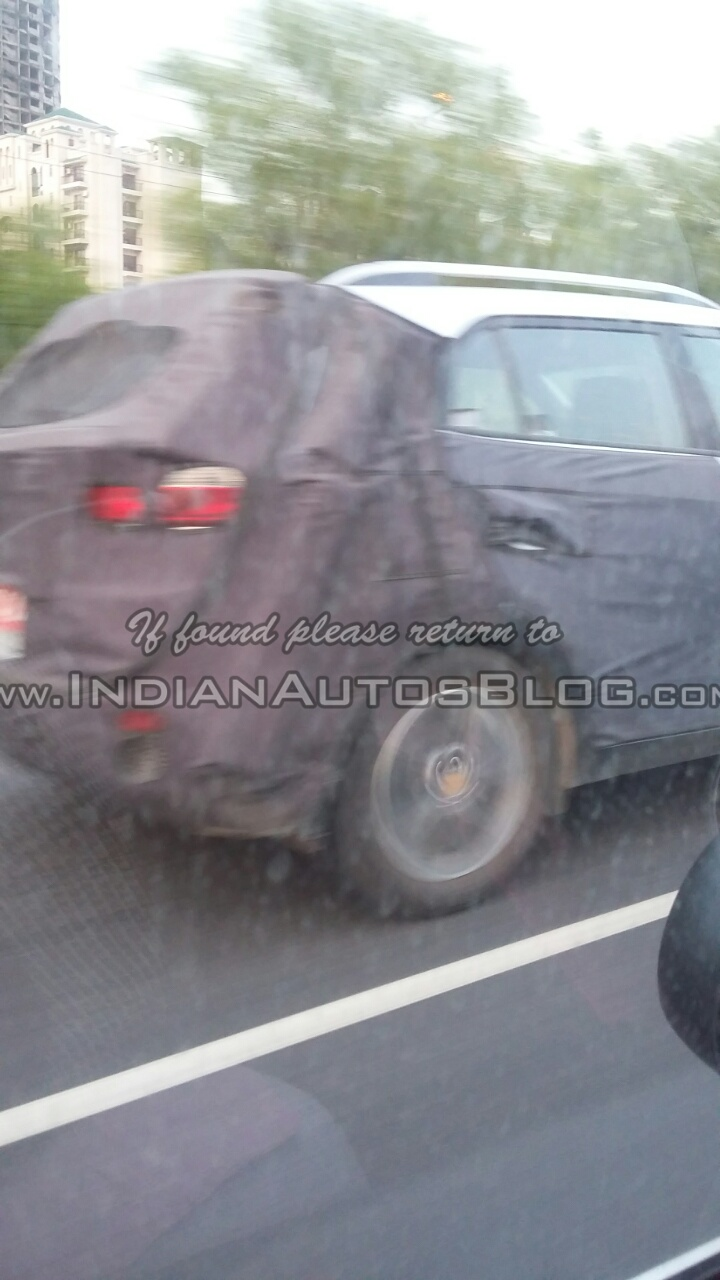 Hyundai ix25 rear Greater Noida spied