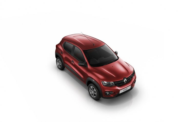 Renault Kwid top view red paintjob press image