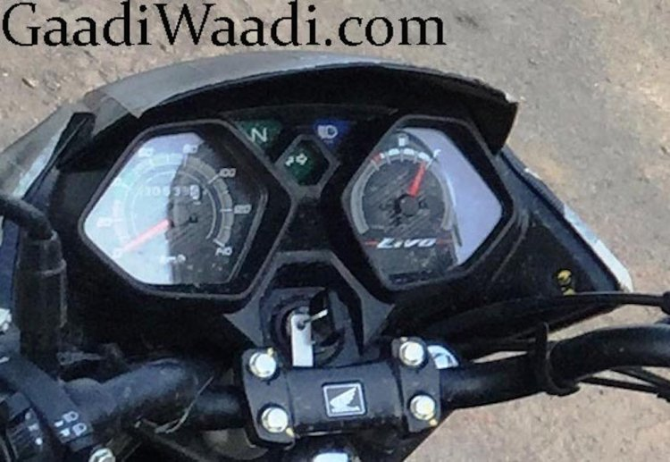 2015 Honda Livo instrument dials with name spotted up close