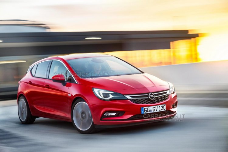 2016 Opel Astra grille leaked