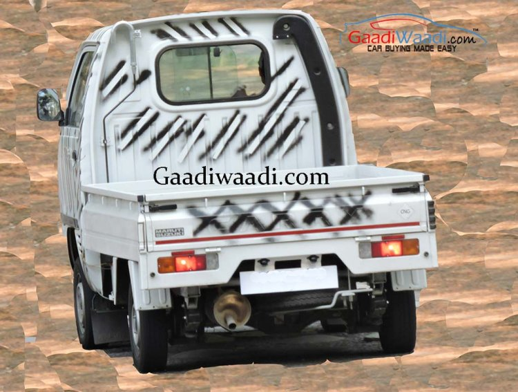 Maruti Super Carry rear spied