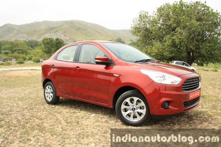 2015 Ford Figo Aspire Titanium 1.5 Diesel front three quarter first drive review