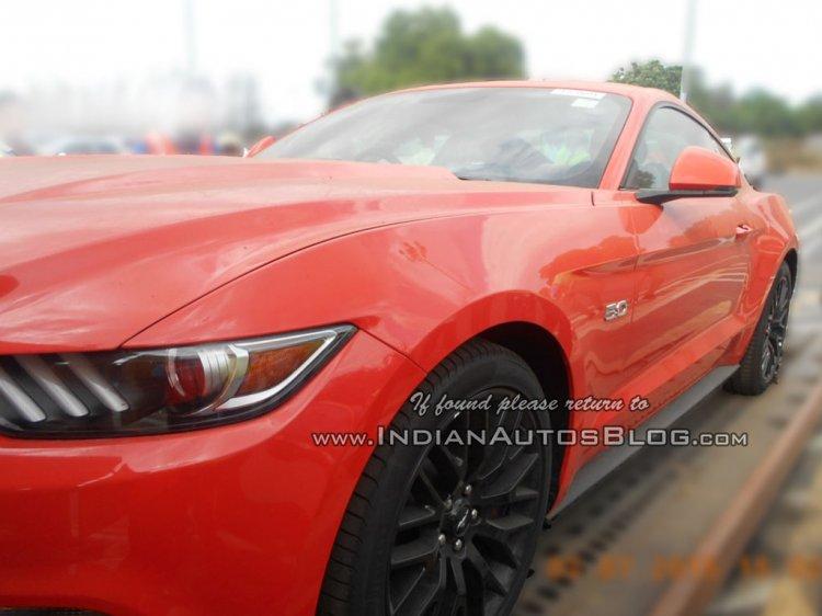 2015 Ford Mustang GT spied India