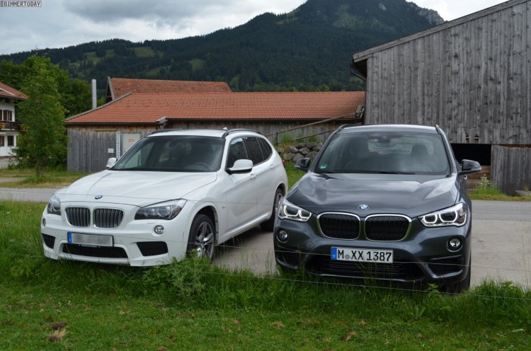 2016 BMW X1 (F48) front quarter compared with 2014 BMW X1 (E84)