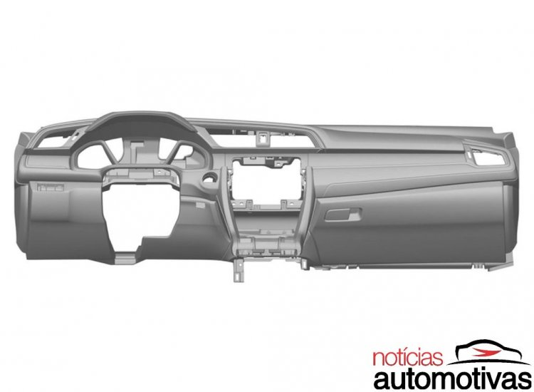 2016 Honda Civic center console patent leak