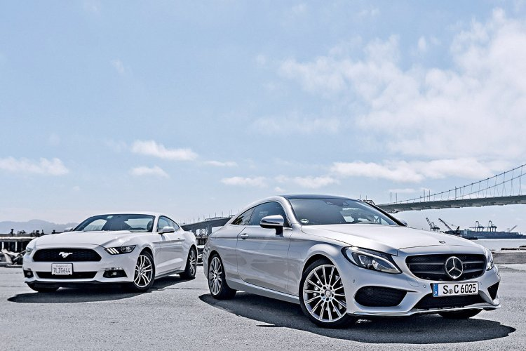 2016 Mercedes C-Class Coupe front from AutoBild
