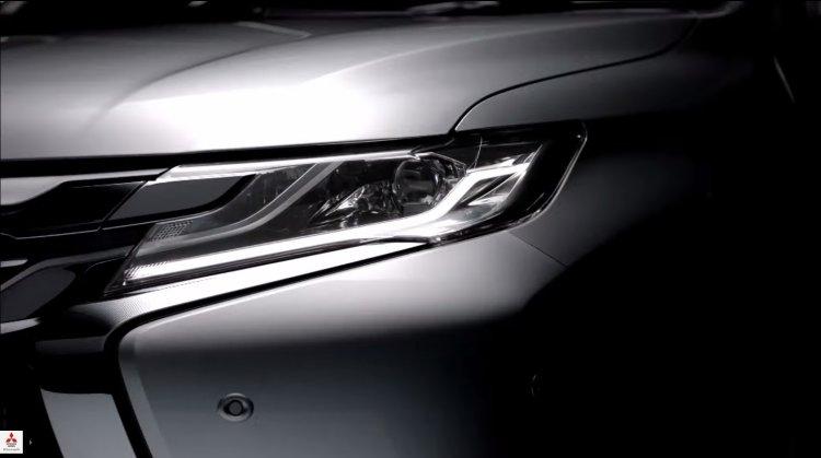 2016 Mitsubishi Pajero Sport LED DRLs teased