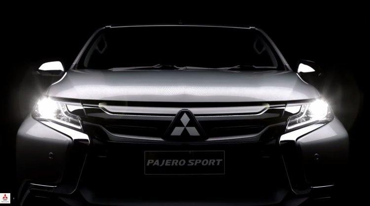 2016 Mitsubishi Pajero Sport front teased