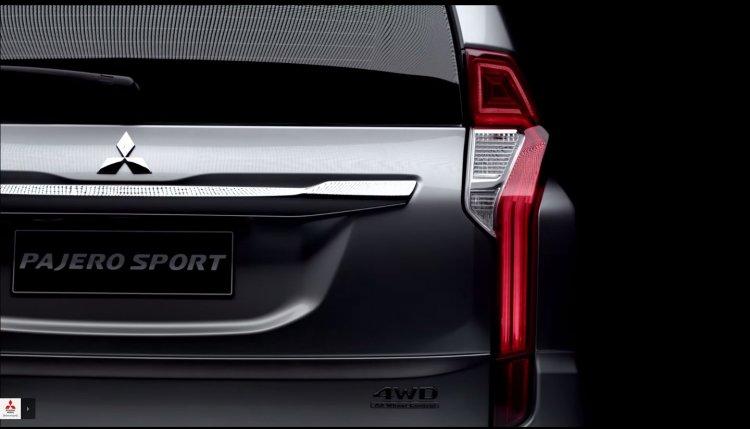 2016 Mitsubishi Pajero Sport rear teased