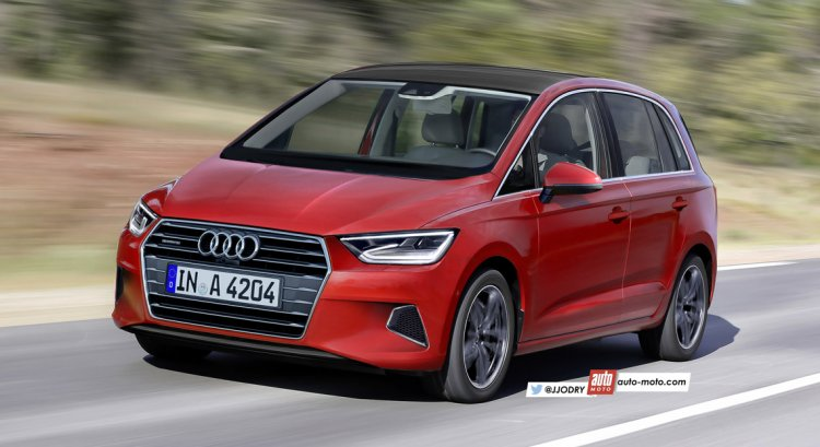 2018 Audi A3 MPV (Audi A2) front three quarter unofficial rendering