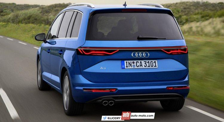 2018 Audi A3 MPV (Audi A2) rear quarter unofficial rendering