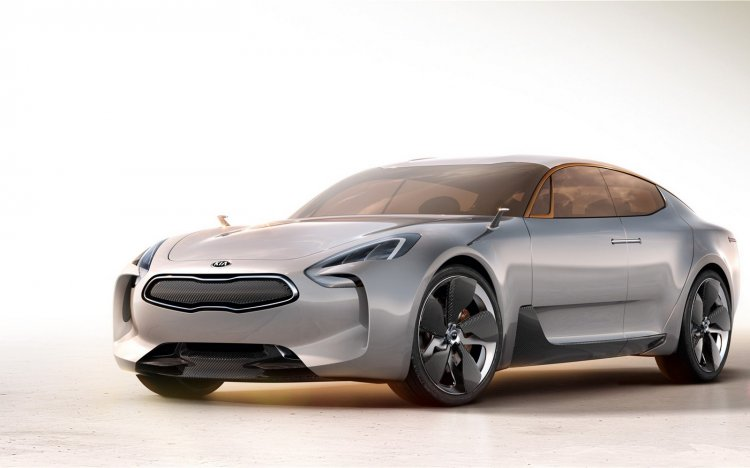 Kia GT concept front three quarters left