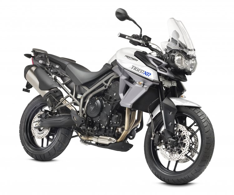 Triumph Tiger 800 XR front three quarter official