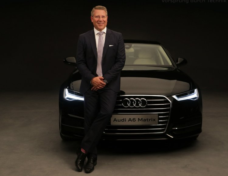2015 Audi A6 India launch with CEO Joe King