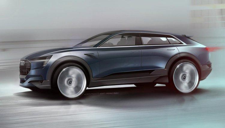 Audi e-tron Quattro concept side sketch