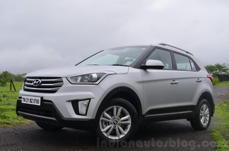 Hyundai Creta Diesel AT front quarter Review
