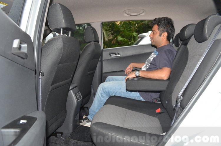 Hyundai Creta Diesel AT rear seat Review