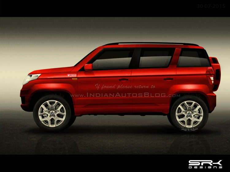 Mahindra TUV300 side profile IAB rendering