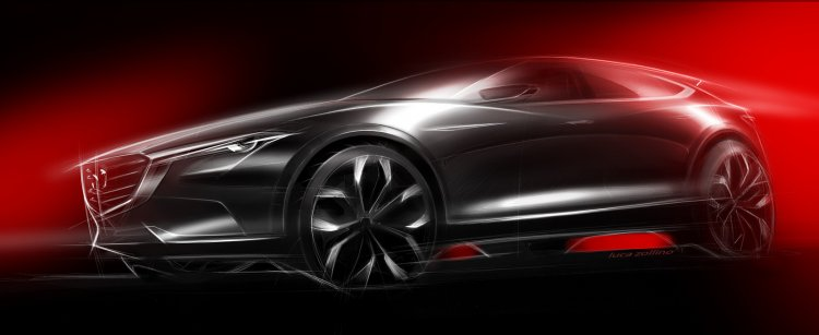 Mazda Koeru Concept side rendering, debuts at IAA 2015