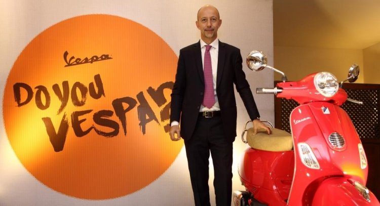 Mr Stefano Pelle, Managing Director, Piaggio India at the launch of Vespa in Nepal