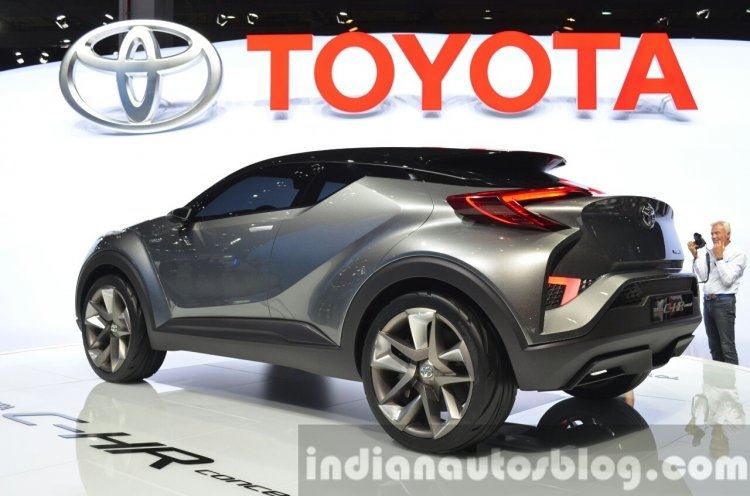 2015 Toyota C-HR Concept rear three quarter view at IAA 2015