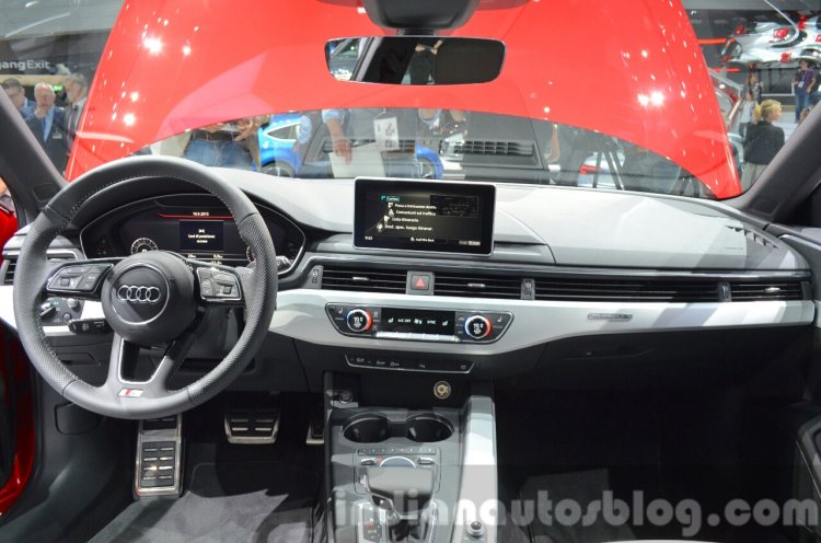 2016 Audi A4 Avant S-line dashboard at the IAA 2015