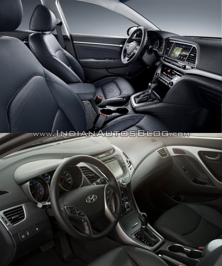 2016 Hyundai Elantra vs older model interior